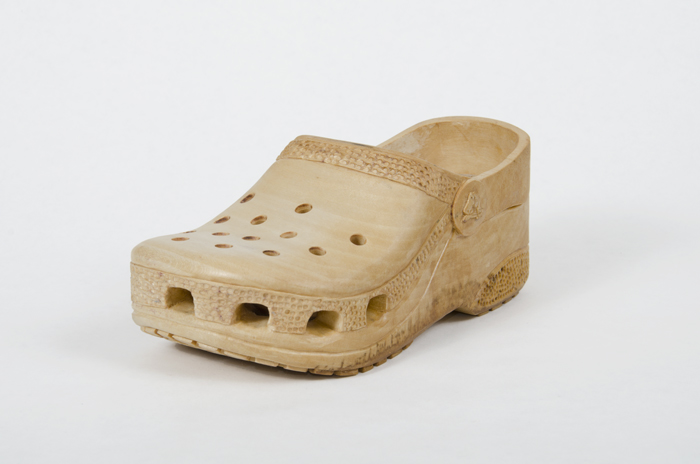 hand carved wooden croc child s size 10 2013 edition of 10 3 ap all left foot